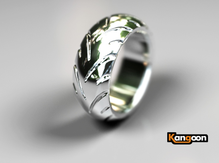 Ray Zing - Ring 3d printed Premium Silver preview