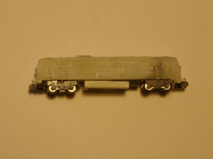 "BR Class 35 ""Hymek"" T 1:450 3d printed partly undercoated fitting on a 16m chassis"