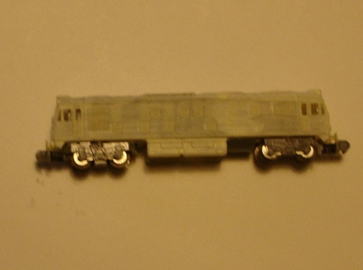 BR Class 24 Late or Early Class 25 - T - 1:450 3d printed model with primer on 16 m chassis