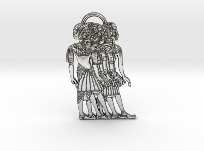 Ancient Nubian Women Pendant 3d printed