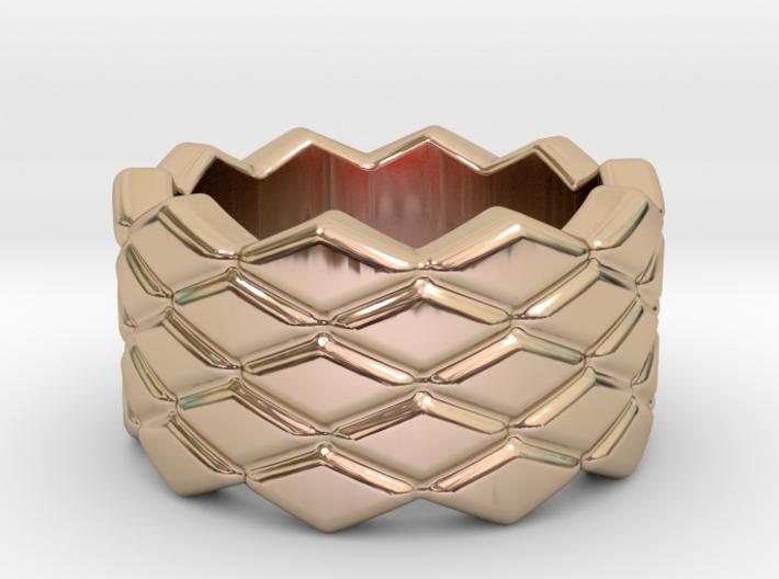 Rhombus Ring 20 – Italian Size 20 3d printed
