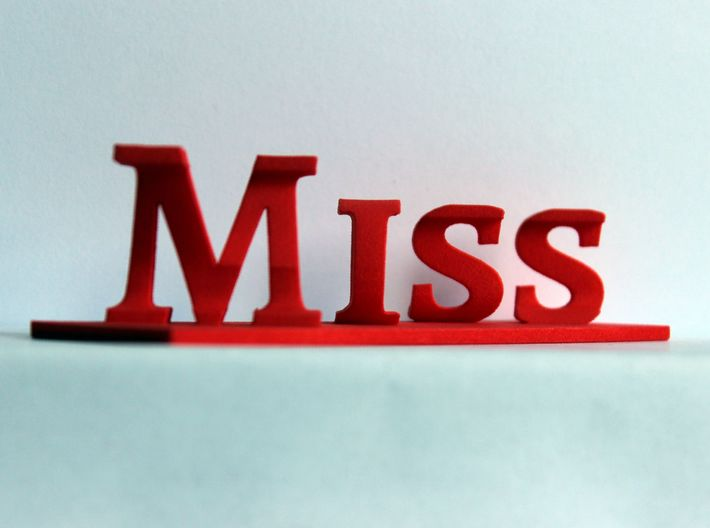 Miss you 3d printed