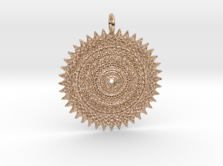 Looking at the Sun Pendant 3d printed