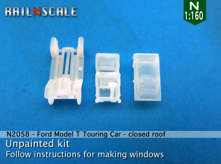 Ford Model T - closed roof (N 1:160) 3d printed