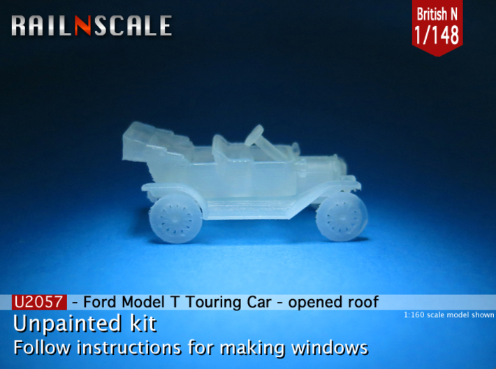 Ford Model T - opened roof (British N 1:148) 3d printed