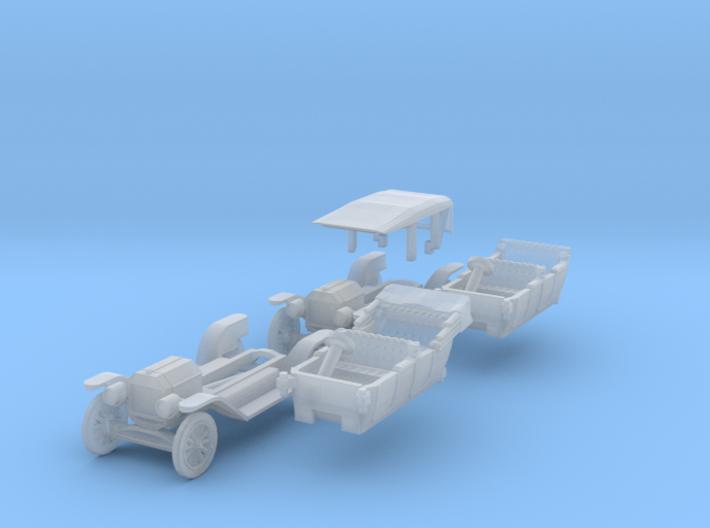 SET 2x Ford Model T (British N 1:148) 3d printed