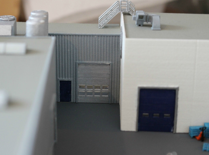 N Scale 3x Overhead Door #2 3d printed On the left you see this type of door with a slightly different door frame.
