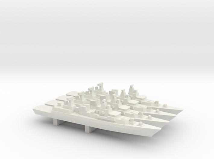 Brandenburg-class FFG x 4, 1/2400 3d printed