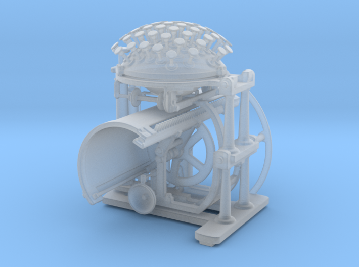 Nietzsche's Writing Ball, 1:4 3d printed