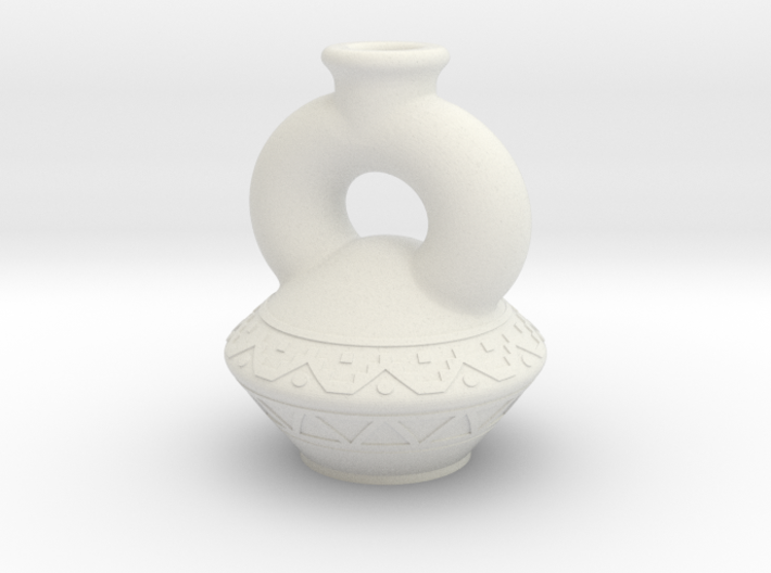 (1/4 Scale) Peruvian themed bottle 3d printed