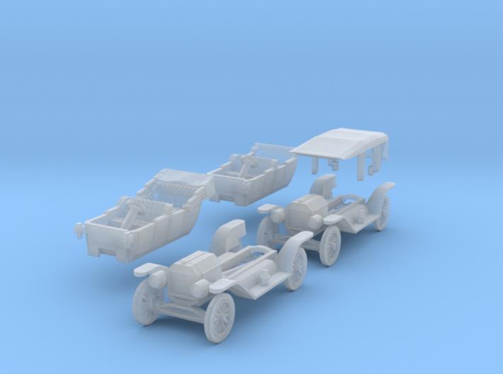 SET 2x Ford Model T (TT 1:120) 3d printed