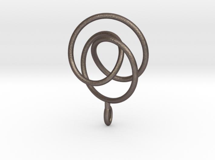 Smooth 2bridge Trefoil Torus Knot Pendant 3d printed