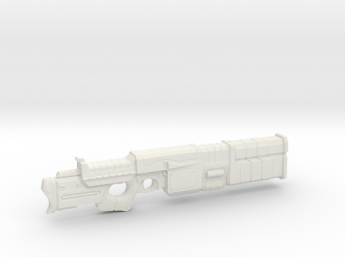 1/6th Scale Railgun MK II Folded 3d printed