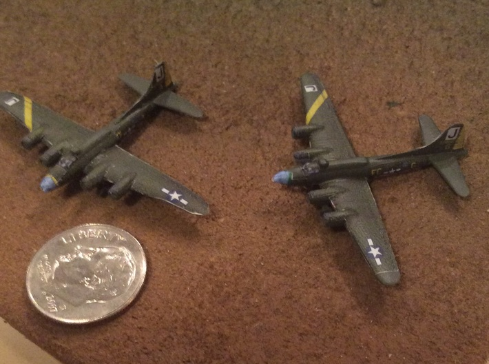 1:700 Scale B-17F Flying Fortress (4x) 3d printed