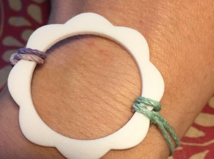Flower Power Pendant for Necklace or Bracelet 3d printed Pendant perfect as a bracelet or a necklace