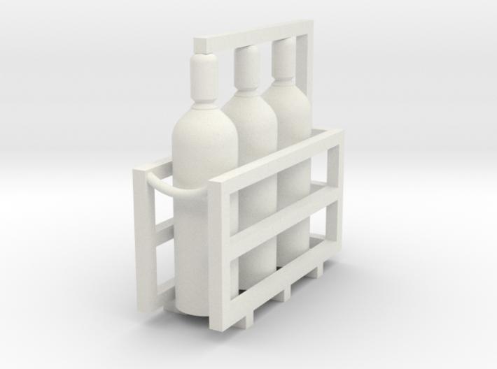 Welding & Gas High Pressure Cylinders In Rack 1-45 3d printed