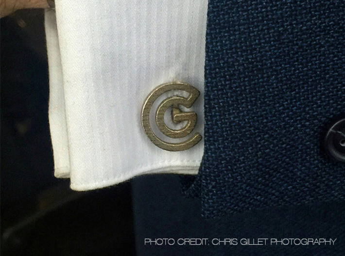 Custom Logo Cufflinks 3d printed