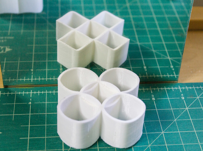 Ambiguous Cylinders : Five Rings 3d printed