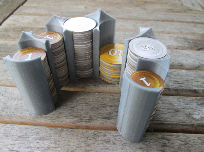 Coin holder for 20, 25 and 30mm coins 3d printed