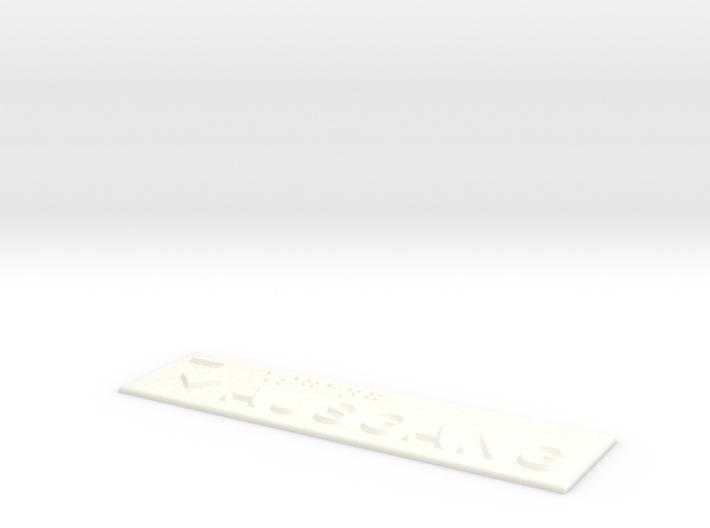AUSGANG mit Pfeil nach rechts und nach unten 3d printed