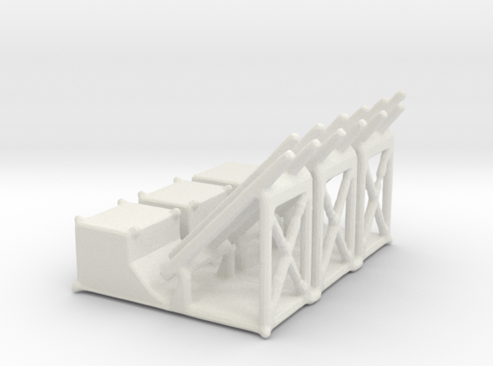 1/144 Mk 36 Mod 0 Rocket Launcher (3) 3d printed