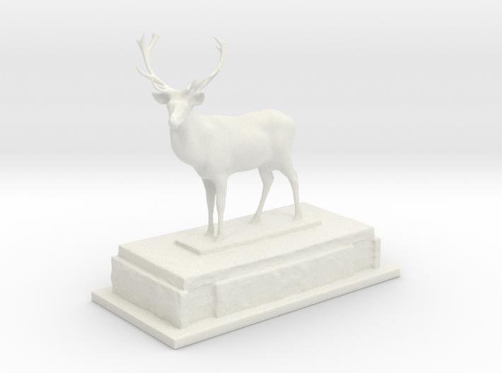 Stag on plinth  3d printed