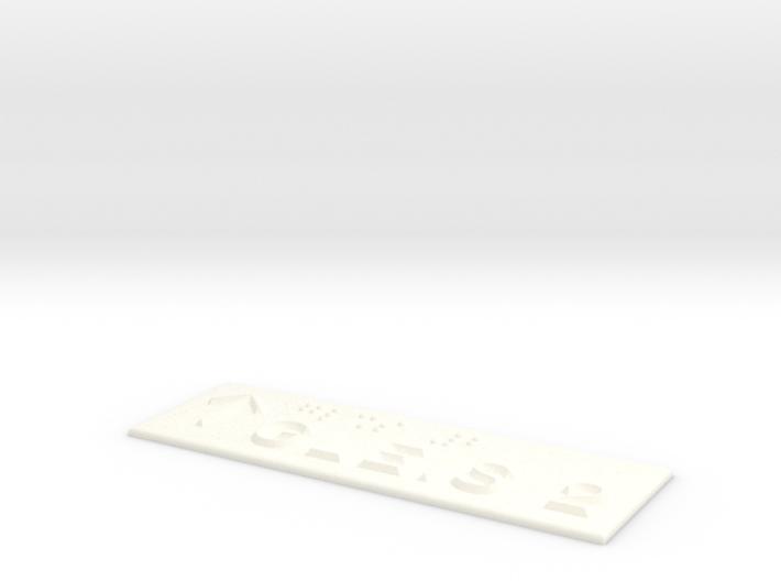 GLEIS 2 mit Pfeil nach oben 3d printed