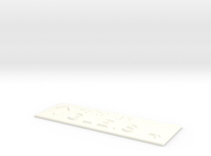 GLEIS 4 mit Pfeil nach oben 3d printed