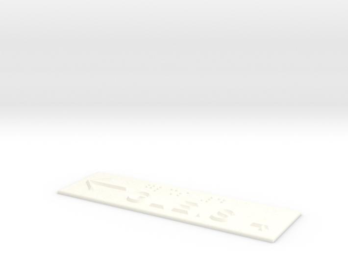 GLEIS 4 mit Pfeil nach links 3d printed