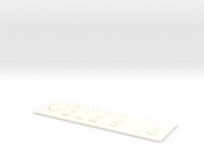 GLEIS 16 mit Pfeil nach unten 3d printed