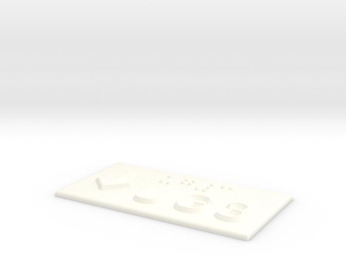 UG 3 mit Pfeil nach unten 3d printed