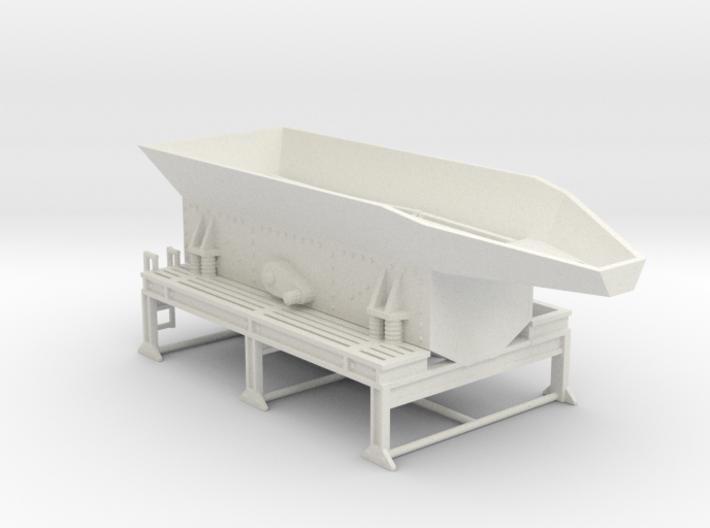 1/50th Crusher feed hopper screen plant 3d printed