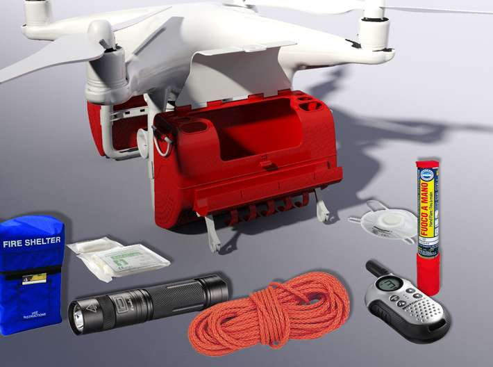SARbox - SAR Kit for DJI PHANTOM 4 3d printed Examples transportable accessories
