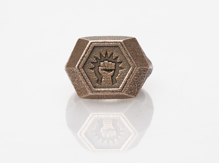 Magic: The Gathering Boros Ring(US Size 11) 3d printed Stainless Steel