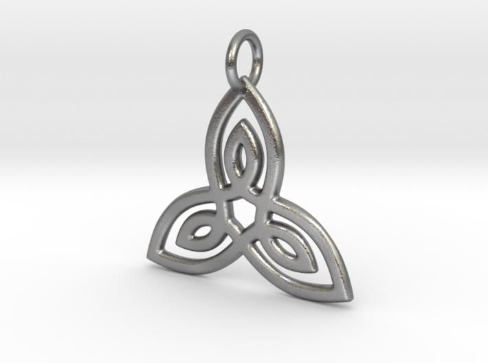 Celtic Trinity Pendant 3d printed