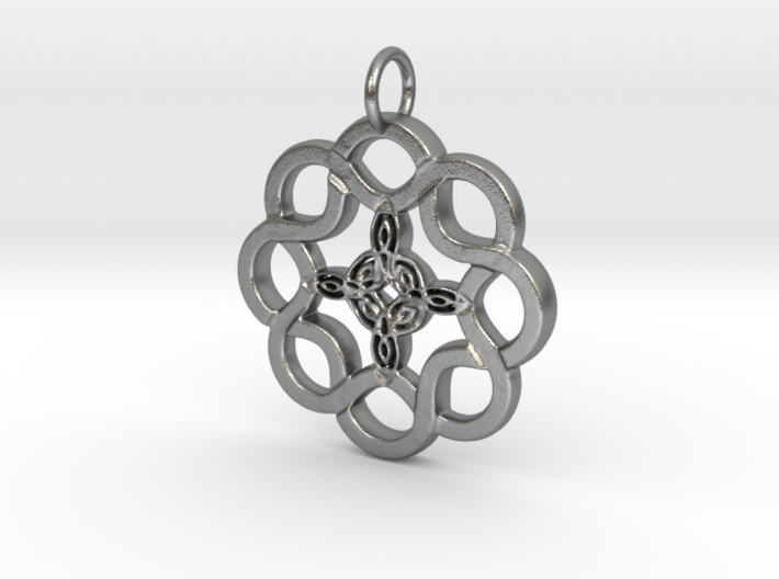 Celtic Rope and Trinity Pendant 3d printed