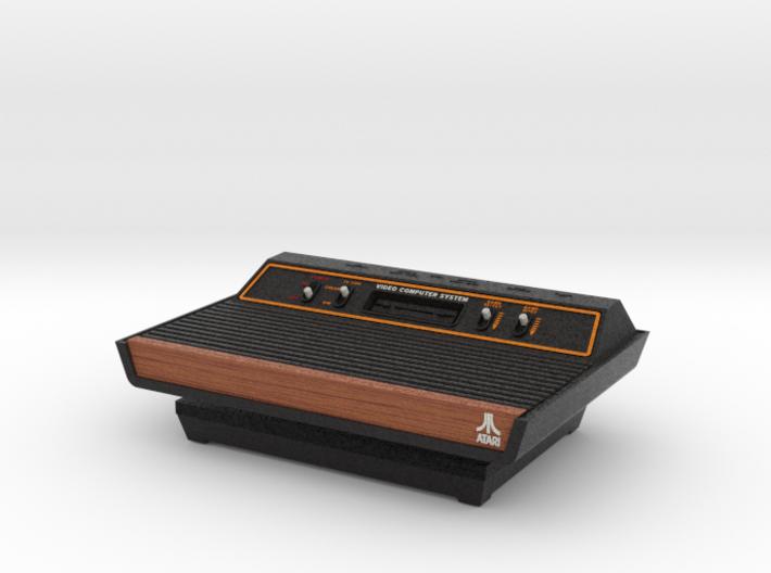 1:6 Atari 2600 (Wood Grain) 3d printed