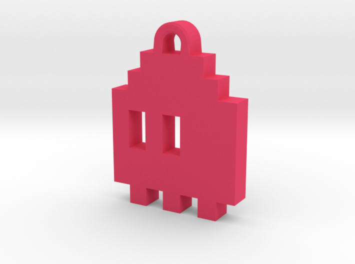 Pac Man Ghost 8-bit Earring 1 (looks L/R) 3d printed