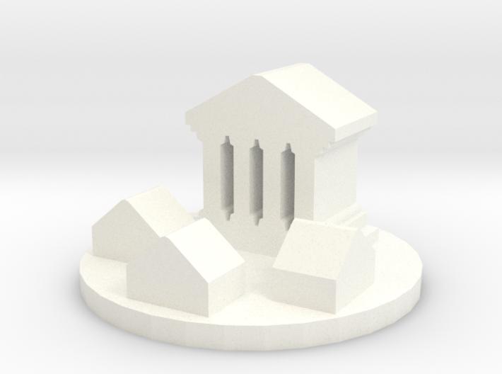 Game Piece, Ancient Greco-Roman City Token 3d printed