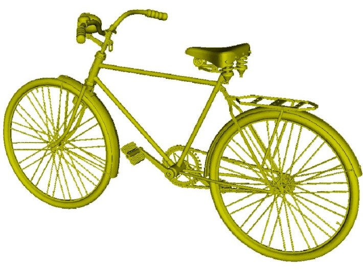 1/24 scale WWII Wehrmacht M30 bicycle model kit 3d printed