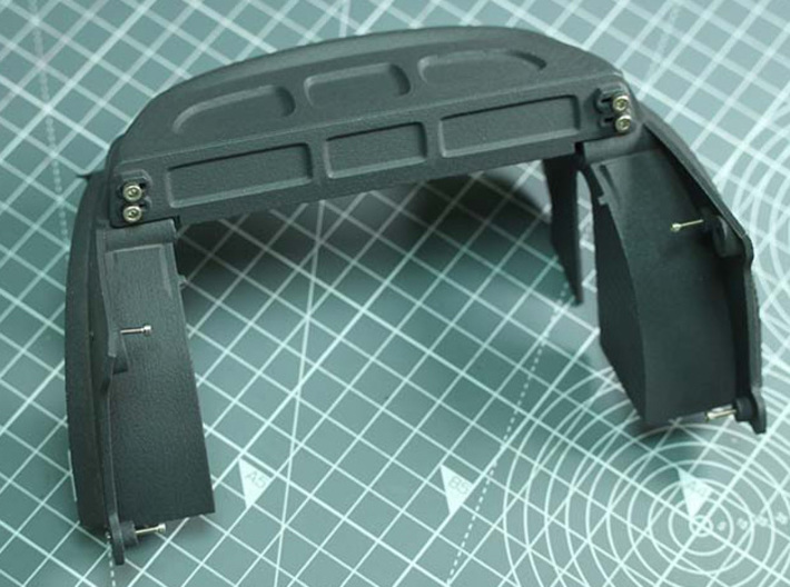 Sand Scorcher Inner Arches, Rear 3d printed with the Rear Shelf (sold separately)