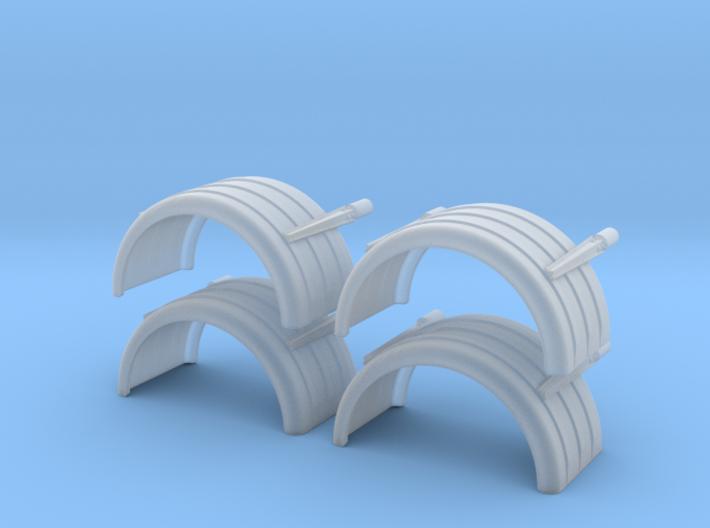 Trailer2480-2prA fenders 1/64 3d printed