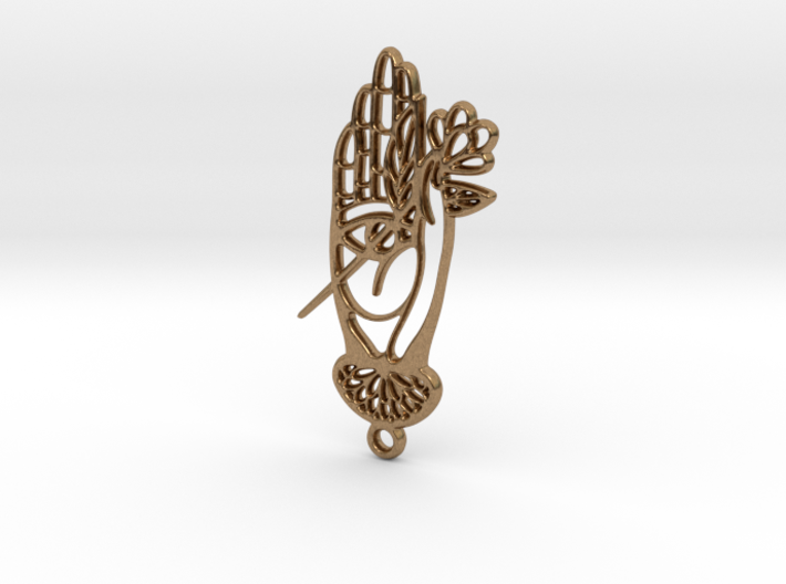 Hand with flower modern Hamsa  3d printed