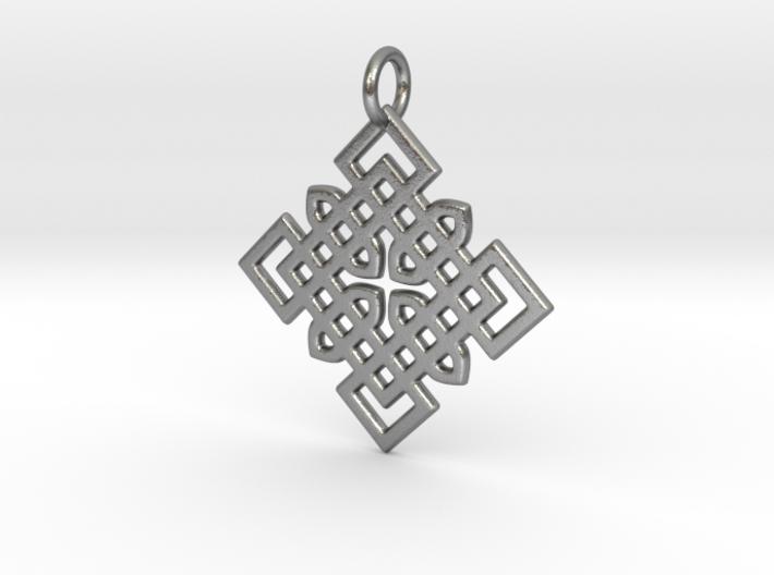 Celtic Cross Pattern Pendant 3d printed