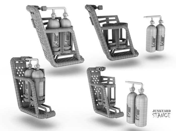 Side Pannier with NOS Cannisters 3d printed Designs for Side Pannier with NOS Cannisters