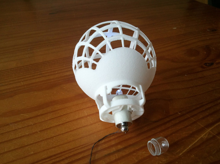 8x8 Stereographic Projection Sphere 3d printed stereographic projection