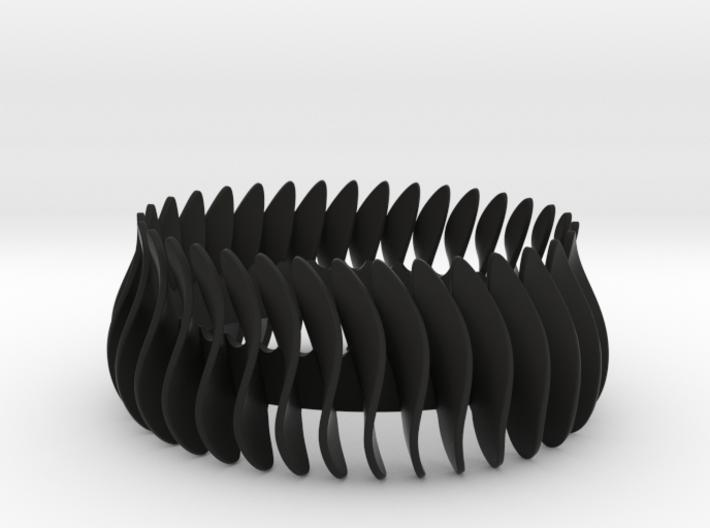 Duo-armband-helft / Duo bracelet halve 3d printed