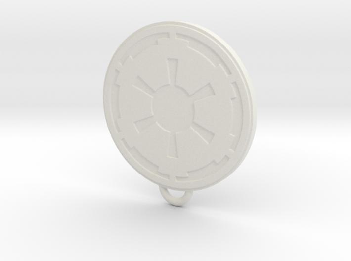 Imperial Fan Keychain 3d printed
