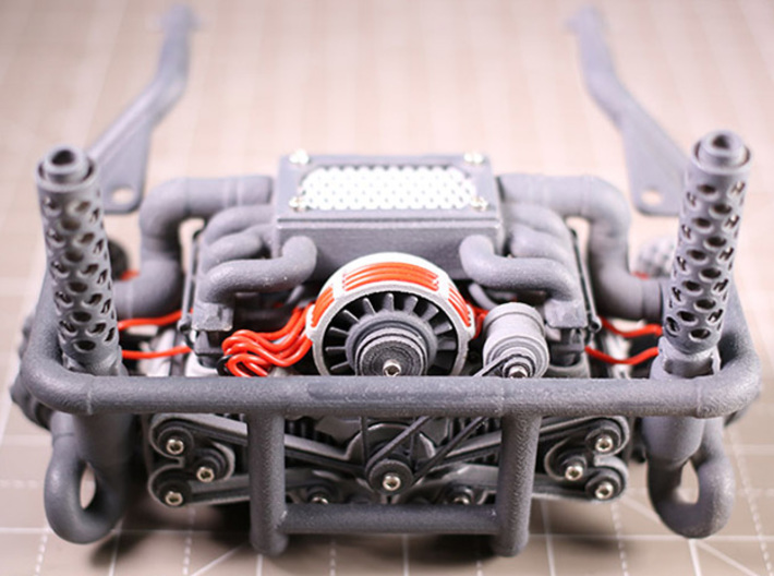 Sand Scorcher Flat Six Air-cooled Engine Block 3d printed The complete Twin Turbo Flat Six Engine Kit (other parts sold separately)