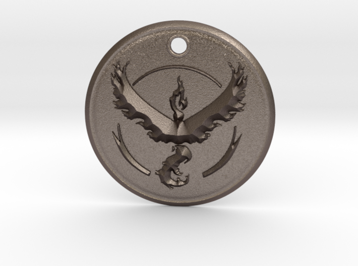 Team Valor Pendant- Pokemon Go 3d printed